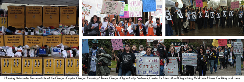 Housing Advocates Demonstrate at the Oregon (2)